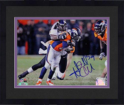 (Framed Dannell Ellerbe Sack Baltimore Ravens Signed 8x10 Photo (GM Auth) - Steiner Sports Certified - Autographed NFL Photos)