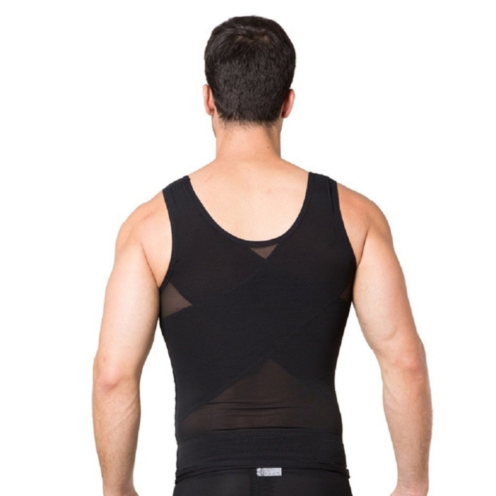Valentina Mens Body Shaper Slimming Shirt Tummy Waist Compression Top Slim Muscle Tank Shapewear Hot Comfortable Bodyshaper