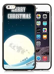Individualization iPhone 6 Plus Case,Merry Christmas Black iPhone 6 Plus 5.5 TPU Case 8