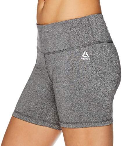Reebok Women's Compression Running Shorts High Waisted Performance Workout Short