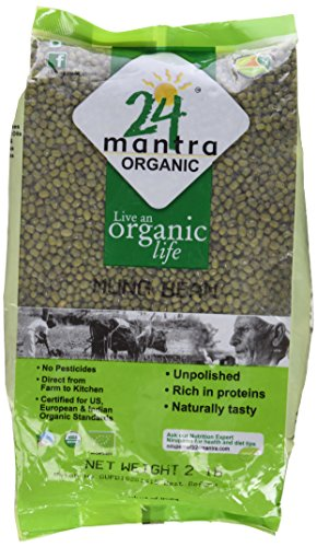 Organic Whole Green Gram (Green Moong Dal Whole) by 24 Letter Mantra