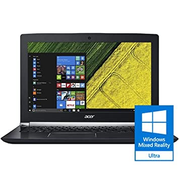 "Acer Aspire V 15 Nitro Black Edition Gaming Laptop, Core i7, GeForce GTX  1060, 15 6"" Full HD, 16GB DDR4, 256GB SSD, 1TB HDD, VN7-593G-73KV"