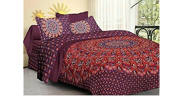 Indian Handmade Mandala Art Doona Cover Duvet Comforter Coverlet Set Quilt Cover