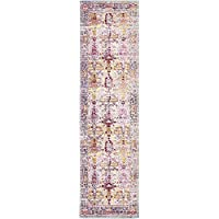 Unique Loom Aria Collection Beige 3 x 10 Runner Area Rug (2 7 x 9 10)