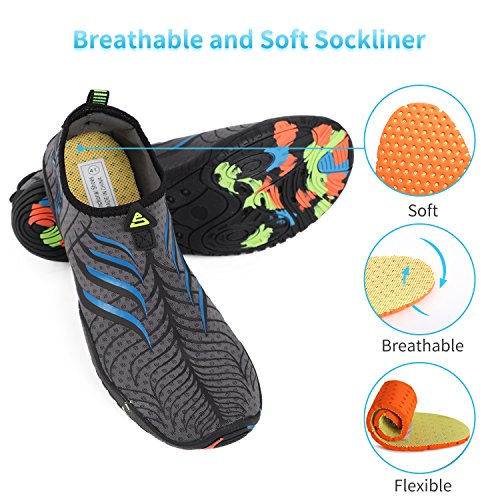 Z Beach Shoes Men Heeta Swim Shoes Water thick Sports Quick Barefoot Socks Blue Dry for Women Swim Aqua d q1x7Znx