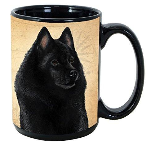 Imprints Plus Dog Breeds (R-Z) Schipperke 15-oz Coffee Mug Bundle with Non-Negotiable K-Nine Cash (schipperke 148)