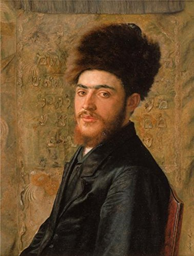 'Man With Fur Hat,1910 By Isidor Kaufmann' Oil Painting, 8x11 Inch / 20x27 Cm ,printed On Polyster Canvas ,this Art Decorative Prints On Canvas Is Perfectly Suitalbe For Home Office Gallery Art And Home Artwork And Gifts