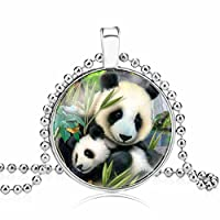 CULOVITY Lovely Panda Pendant Necklaces for Panda Lovers