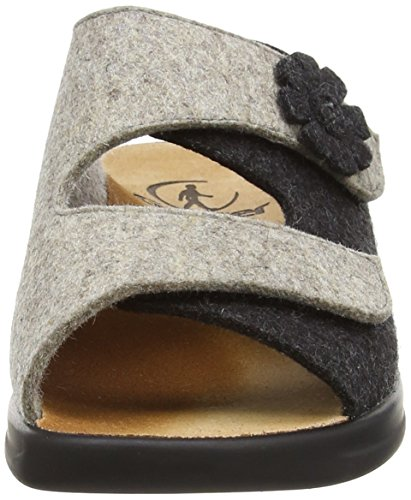 Ganter MONICA, Weite G - zuecos de fieltro mujer gris - Grau (antrazit / kies 6267)