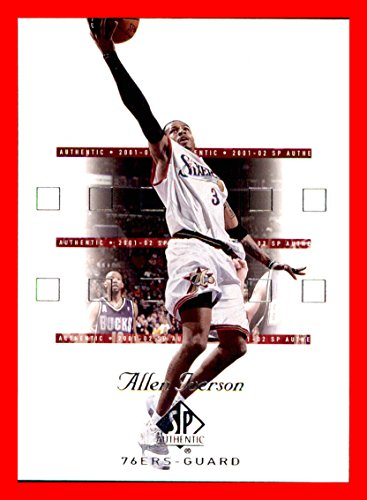 2001-02 SP Authentic #64 Allen Iverson PHILADELPHIA 76ers Georgetown Hoyas ()