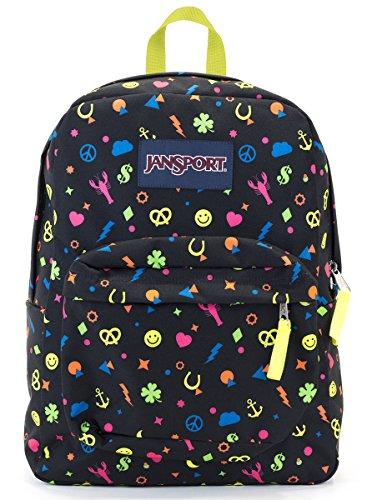 25ea2204dcde Jansport Superbreak Backpack (Neon Charmed Life)