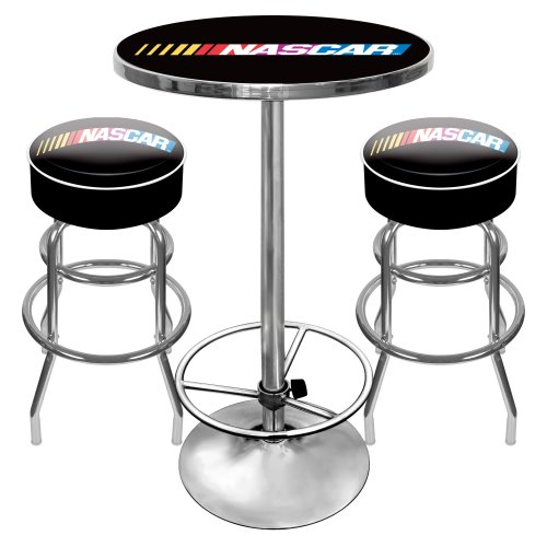 NASCAR Ultimate Gameroom Combo - 2 Bar Stools & Pub Table