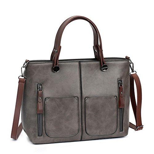Handbags Cross Women Gray Ccaybp180786 Fashion Bags Pu Voguezone009 Totestyle Casual Shoulder nqgU0n8pxO