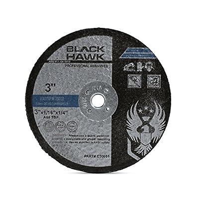 """25 Pack 3"""" x 1/16"""" x 1/4"""" Arbor Metal & Stainless Steel Cut Off Wheels - For Die Grinders"""