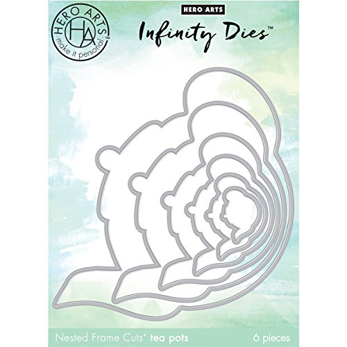 Hero Arts Nesting Tea Pot Infinity Dies (H) Papercutting Die