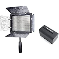Yongnuo YN-300 III YN300 III Pro LED Video Light 5500K Color Temperature for Canon Nikon DSLR Camera DV and Camcorder with WINGONEER NP-F770 Battery and Battery Charger