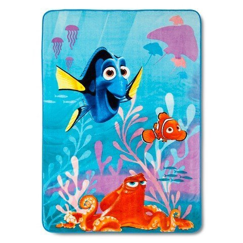 Disney Finding Dory Blanket 62 in. x 90 in. (Blue) Franco Manufacturing Co. 5926198