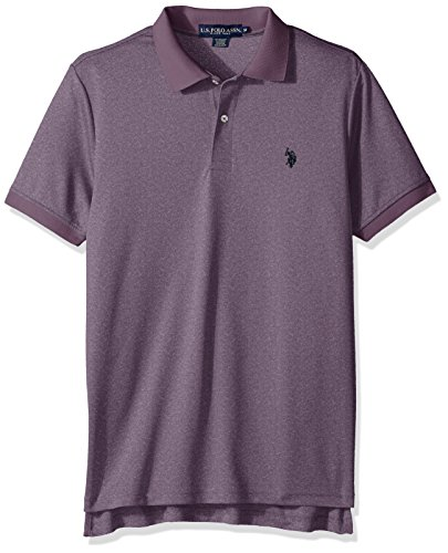 U.S. Polo Assn. Mens Classic Fit Solid Short Sleeve Stretch Poly Polo Shirt