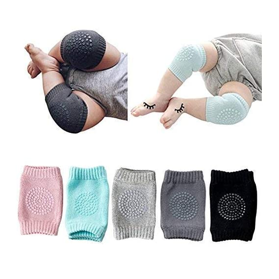 SellBotic 2 Pair Baby Knee pad Kids Safety Crawling Elbow Cushion Infant Toddlers Baby Leg Warmer Knee Support Protector