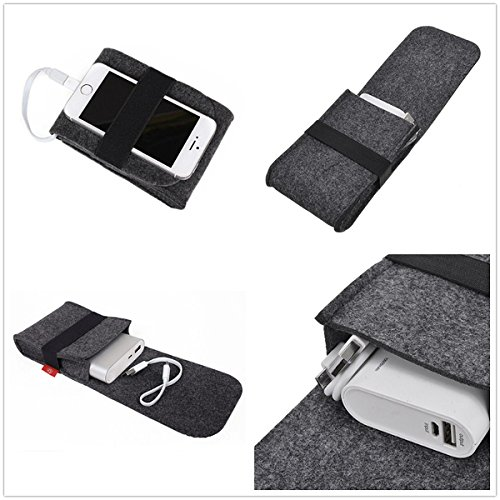 Mobile Phones & Accessories - Power Bank Moe b Cable Digital Accessories Felt Storage Bag - Felt Storage Moe Pouch Small Accessory Travel Case Charger Macbook - Apple Accessories - 1PCs
