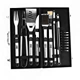 18 Pieces Stainless Steel BBQ Set