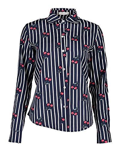 1 Femme Tee Basic Fleurs Shirt Chemise Style Blouses Casual PengGeng Manche Longue BSPPx