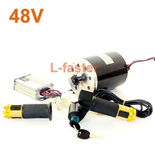36v48v 1000ワットunitemotor起毛モーターMY1020でコントローラとledスロットル電動オートバイmx500アップグレードエンジンキット B074539TBX 48V twist kit 48V twist kit