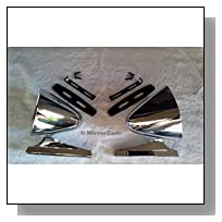 Vintage Style Chrome Sport Bullet Mirrors for Hot Rods, Classic Muscle Car Restomod, BOTH Left and Right