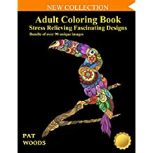 Adult Coloring Book: Stress Relieving Fascinating Designs: 90 Unique Images (Stress Relieving Designs)