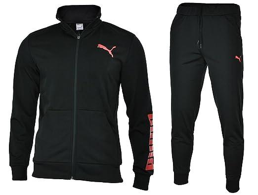 Puma Rebel Suit Closed Hombres Sport chándal Jogging Negro, Tamaño ...
