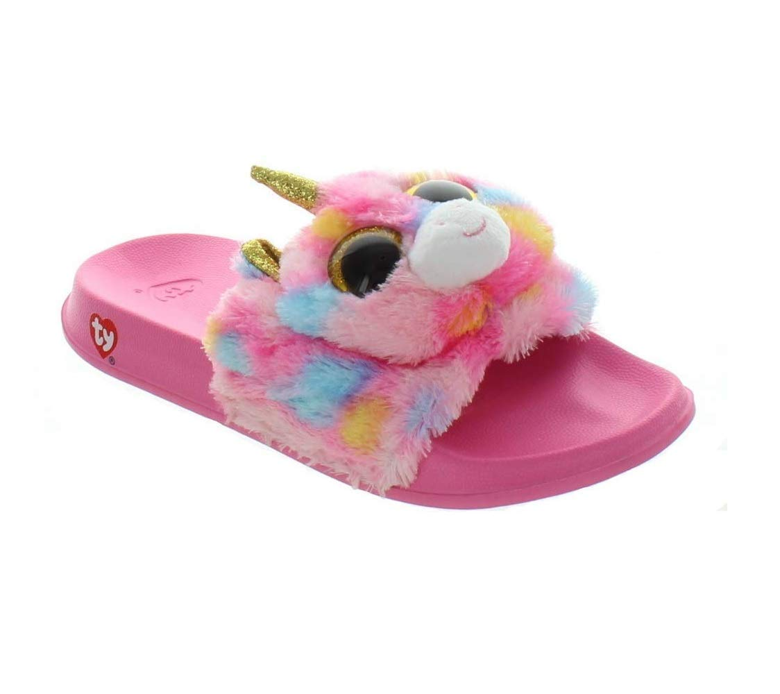 Ty Beanie Boo Slide Slippers Sandal Flip Flops Dotty Girls Youth Sz 4-5