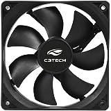 Cooler Fan C3Tech F7-100BK Storm 12x12x2.5 cm Preto - Rolamento FDB 12v 1200RPM