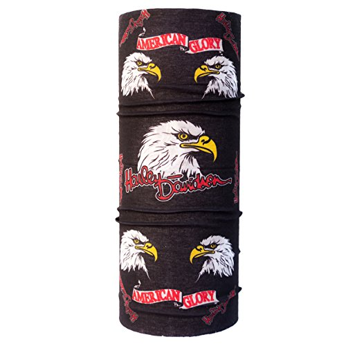 Autofy Eagle-Harley-American Glory Lycra Unisex Headwrap (Black, Free Size) for bikes