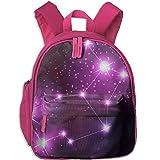 Ikejsne Virgo Zodiac Sign Kids Mini Backpack Shoulder Schoolbag With Front Pockets