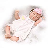 NPK Collection 22inch 55cm Lifelike Silicone Sleeping Baby Reborn Doll Adora Living Girl Doll Women Nursery Training Toys Collectible