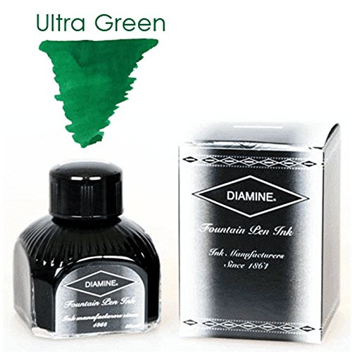 Diamine 30ml Ultra Green fountain pen ink bottle NO.257