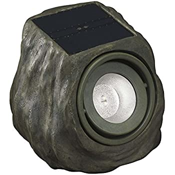 Solar Powered Rock Lights Set Of Four Led Outdoor Stone