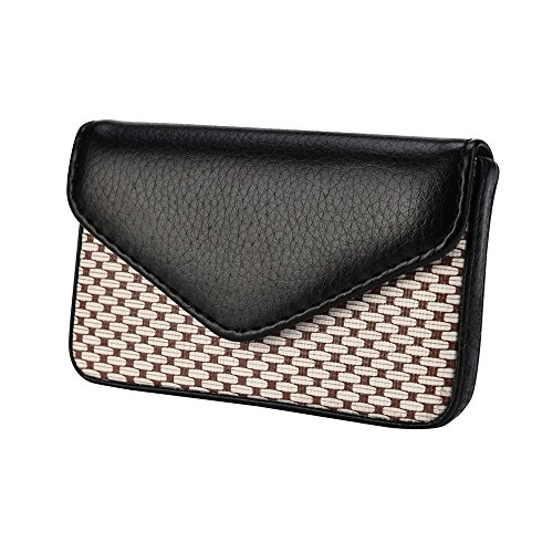 Kangma Business Name Card Holder Multi-Function PU Leather Wallet Credit Card ID Case with Magnetic Shut for Women Men