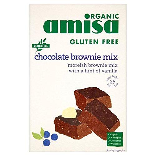 Amisa Organic Gluten Free Chocolate Brownie Mix 400g - Pack of 6