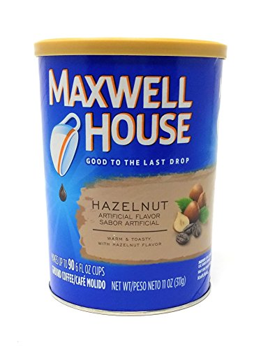 Maxwell House Hazelnut Ground Coffee, 11-Ounce Cannister (Pack of 3) -