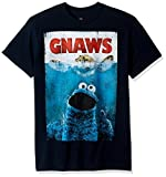 """Officially licensed Sesame Street t-shirt. Cookie Monster in a """"Jaws type image"""" swimming in the ocean up to the surface for cookies."""