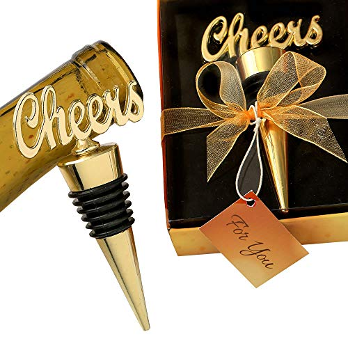 24 Cheers Gold Bottle Stoppers by Fashioncraft