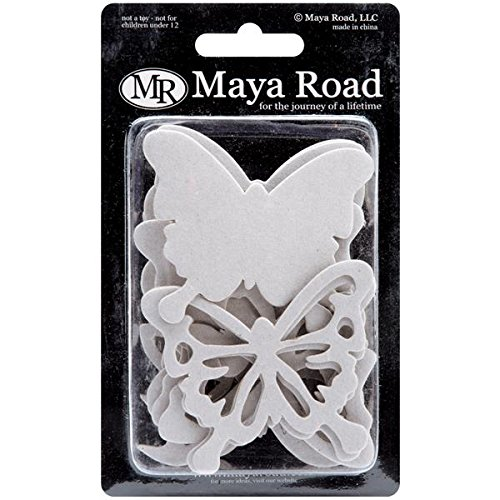 Maya Road Chipboard Set, Butterflies, 2.9-Inch to 3.1-Inch, - Chipboard Maya Road
