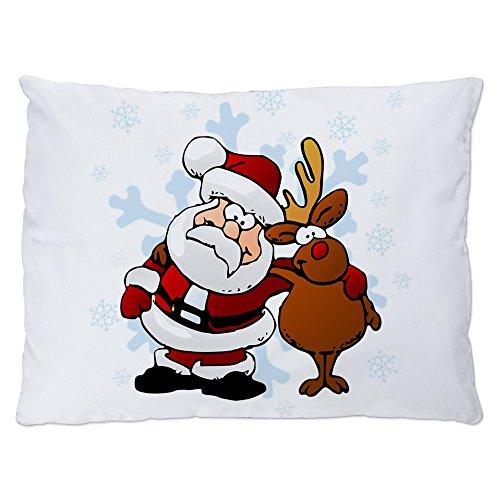 Luxury Sleigh Beds - Indoor Luxury Plush Dog Bed Santa Claus & Rudolf: Best Friends Forever