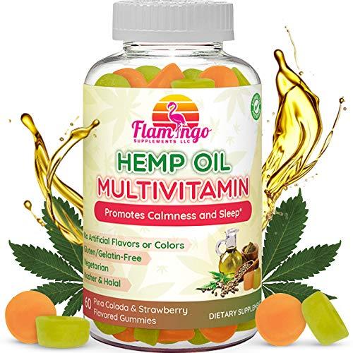 Hemp-Oil-Multivitamin-Gummies-Vitamin-C-Plus-Zinc-and-B-Complex-Vegan-Kosher-Halal-Immunity-Booster-and-Natural-Calm-Gummy-Pina-Colada-Flavor-60-Count