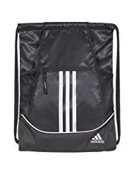 adidas Alliance II Sackpack, Black, 18 by 13 3/4 inch