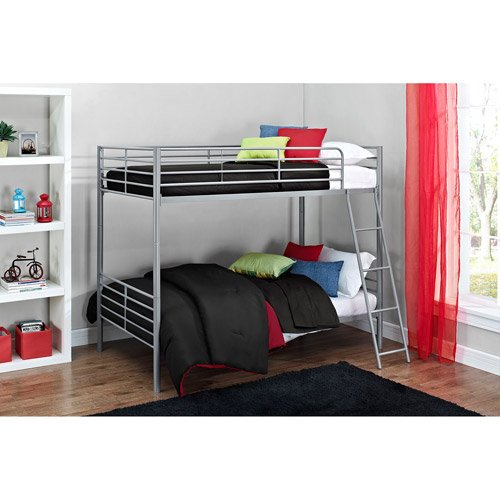 Price comparison product image Mainstays Twin over Twin Convertible Bunk Bed,  Multiple Colors