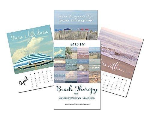 Amazon Com 2018 Calendar Beach Photography Inspirational Calendar