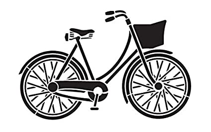 amazon com bicycle stencil by studior12 fun vintage art