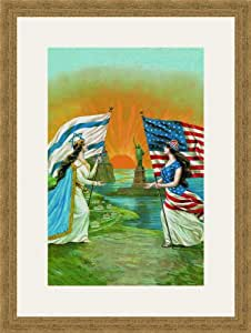 Jewish and American Friendship 12x18 Archival Ink-JetPprint, Matted and Framed